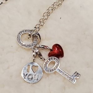 Thomas Sabo Charm Necklace with 3 charms